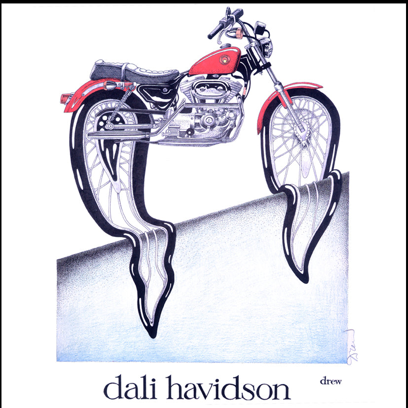 'Dali Havidson' Signed Print by Simon Drew