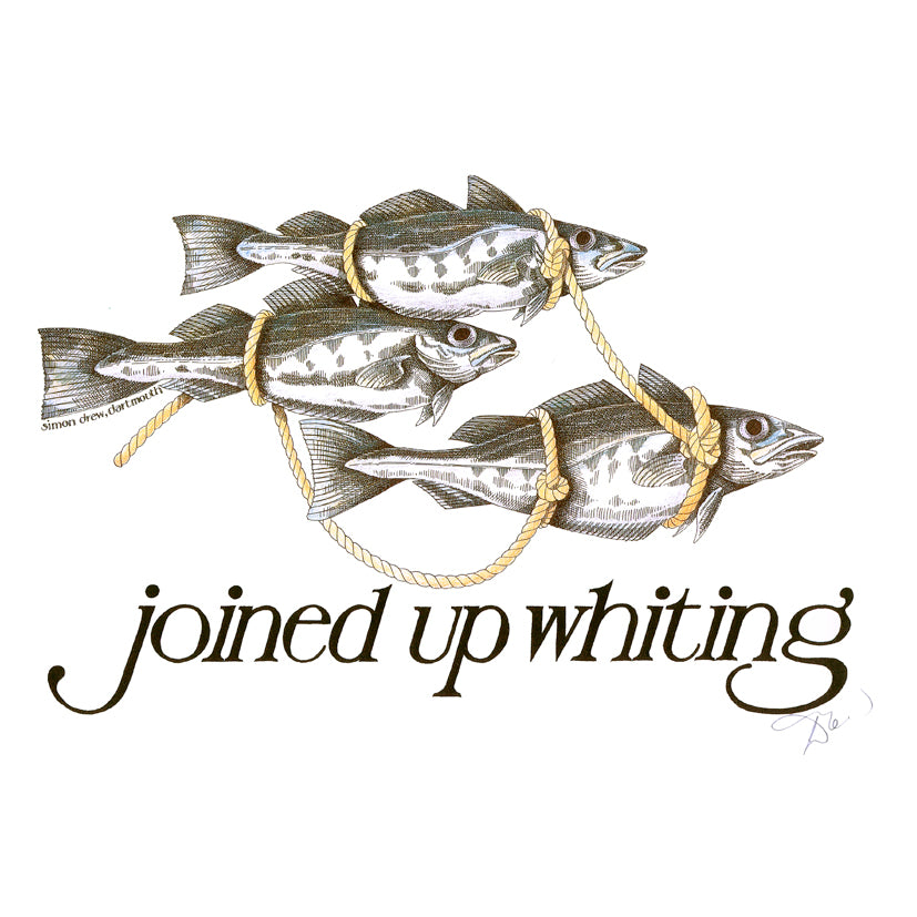 'Joined Up Whiting' Signed Print by Simon Drew