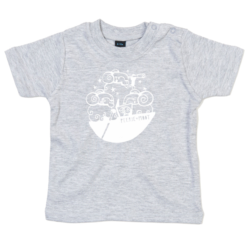 Grey 'Peerie Moot' Children's T-Shirt
