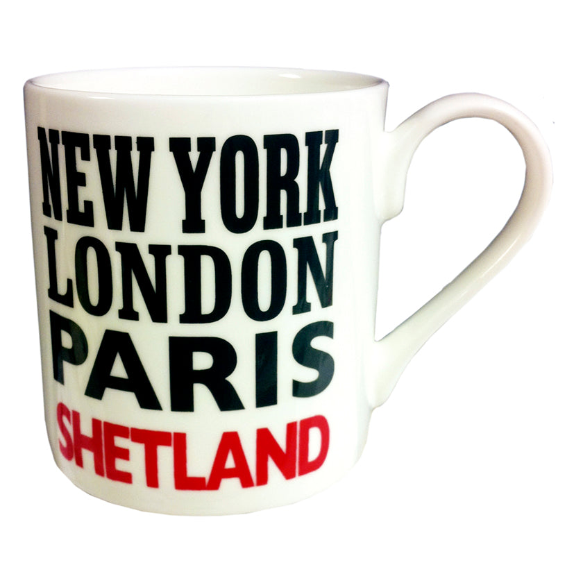 New York London Paris Shetland Mug