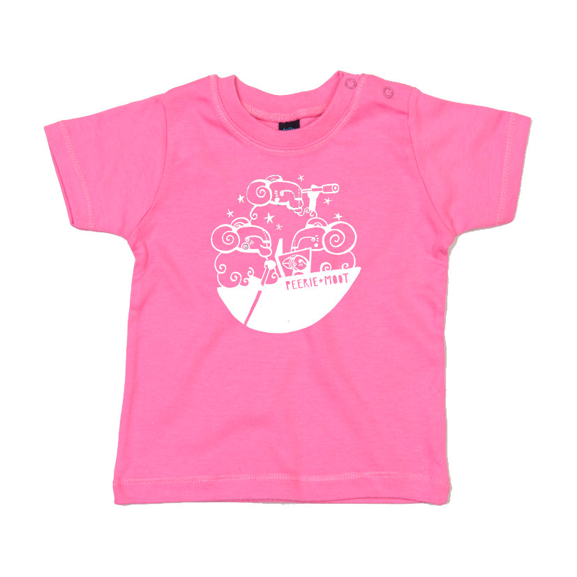 Peerie Moot Baby t shirt Pink