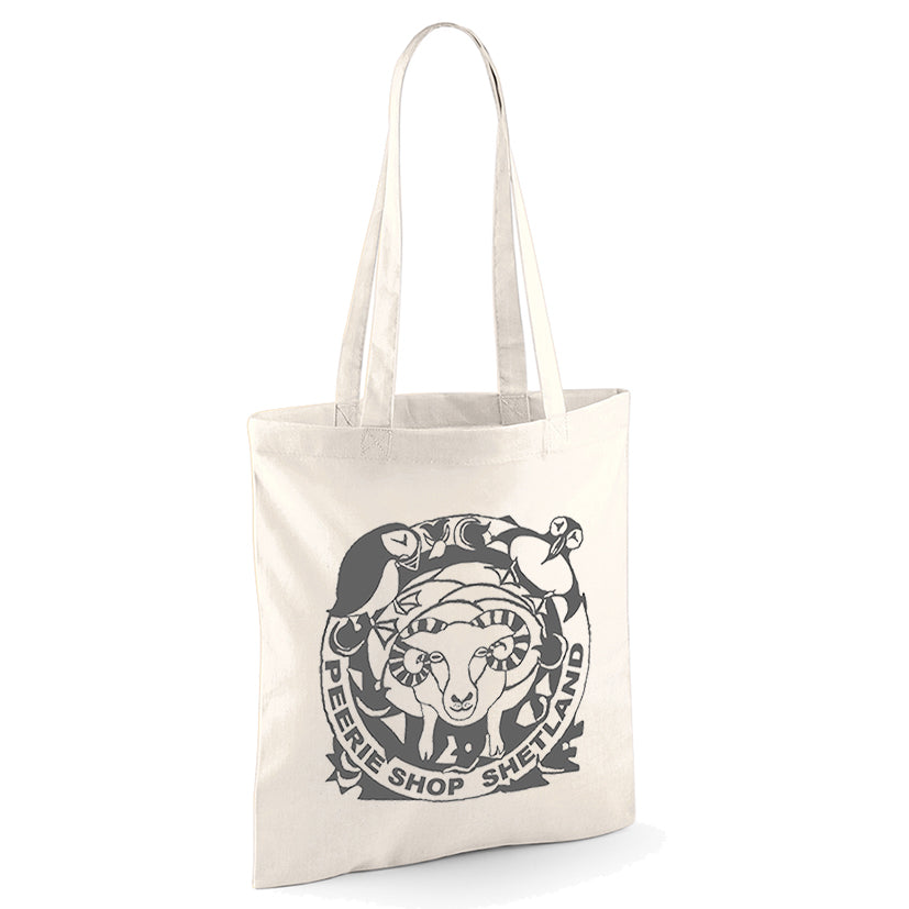 Cotton Eco Bag with Peerie Shop Logo