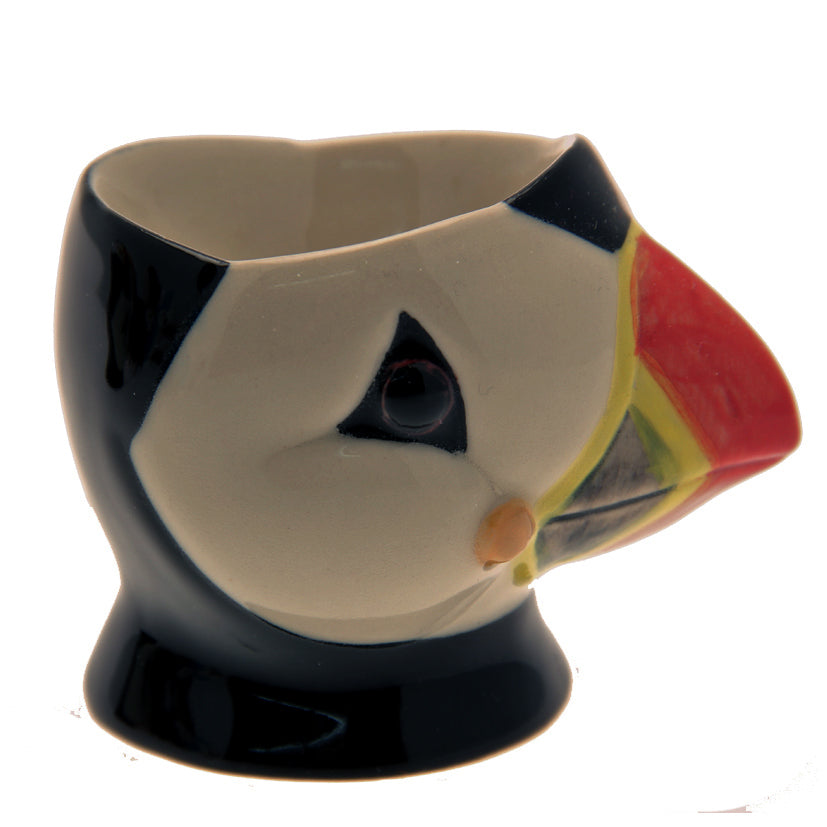 Ceramic Puffin Head Egg Cup