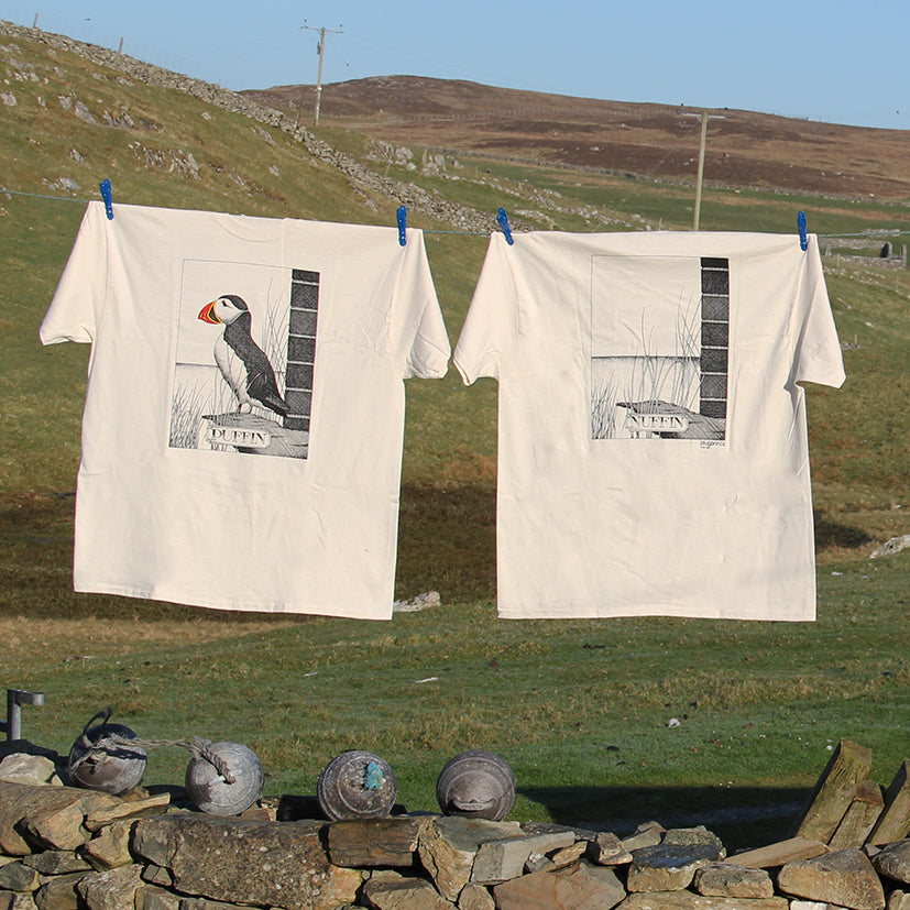 'Puffin Nuffin' T-Shirt by Simon Drew