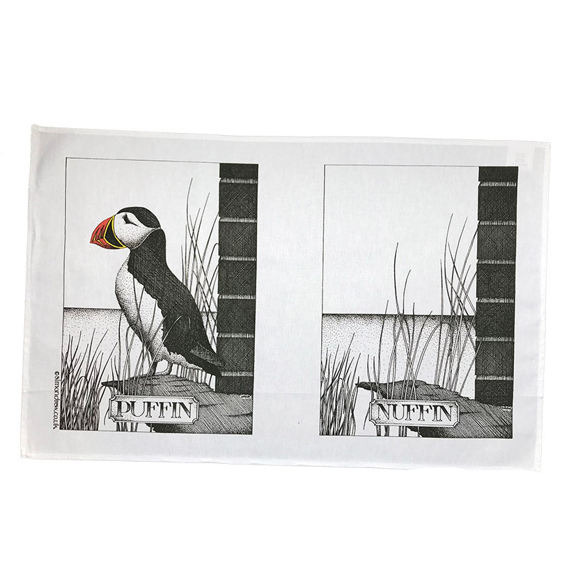 Puffin Nuffin tea towel