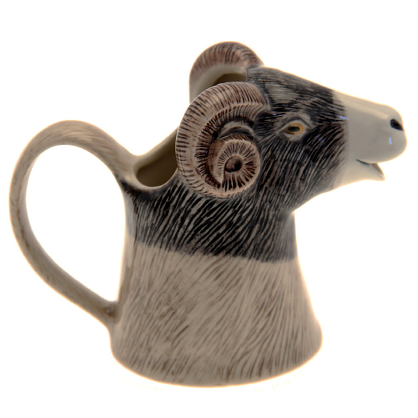 Ceramic Ram's Head Jug