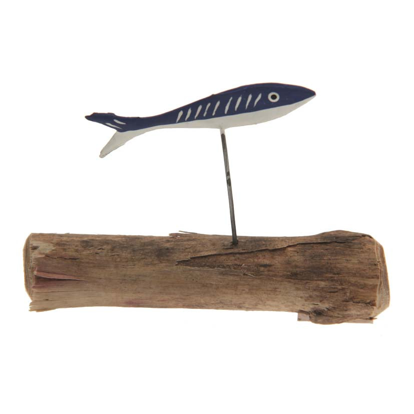 Swimming Fish on Driftwood