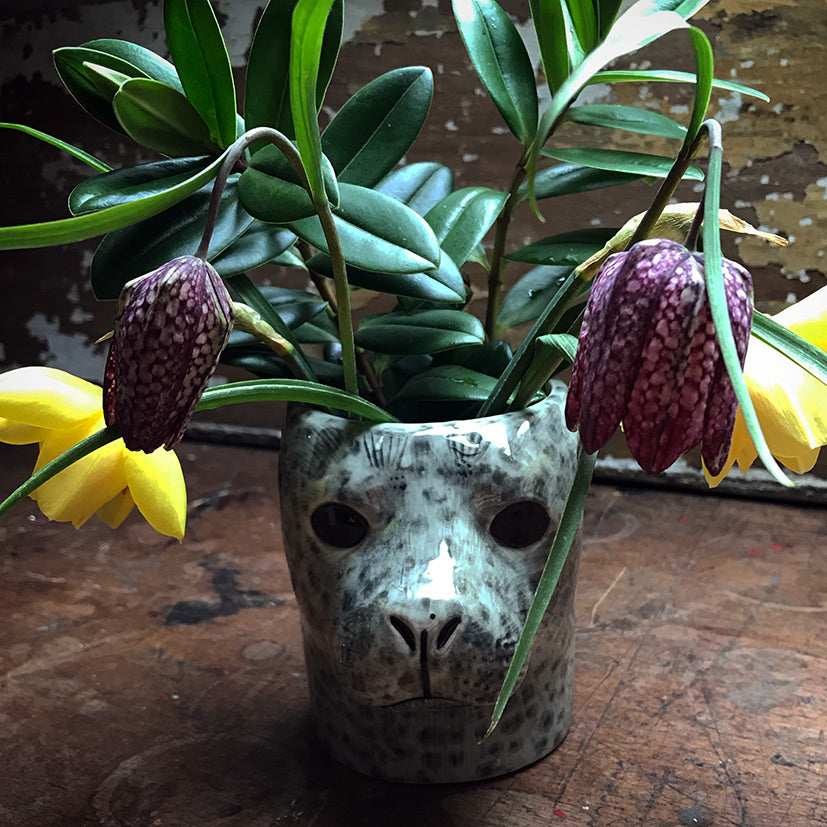 animal head pot