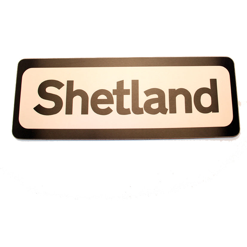 Shetland Magnetic Road Sign