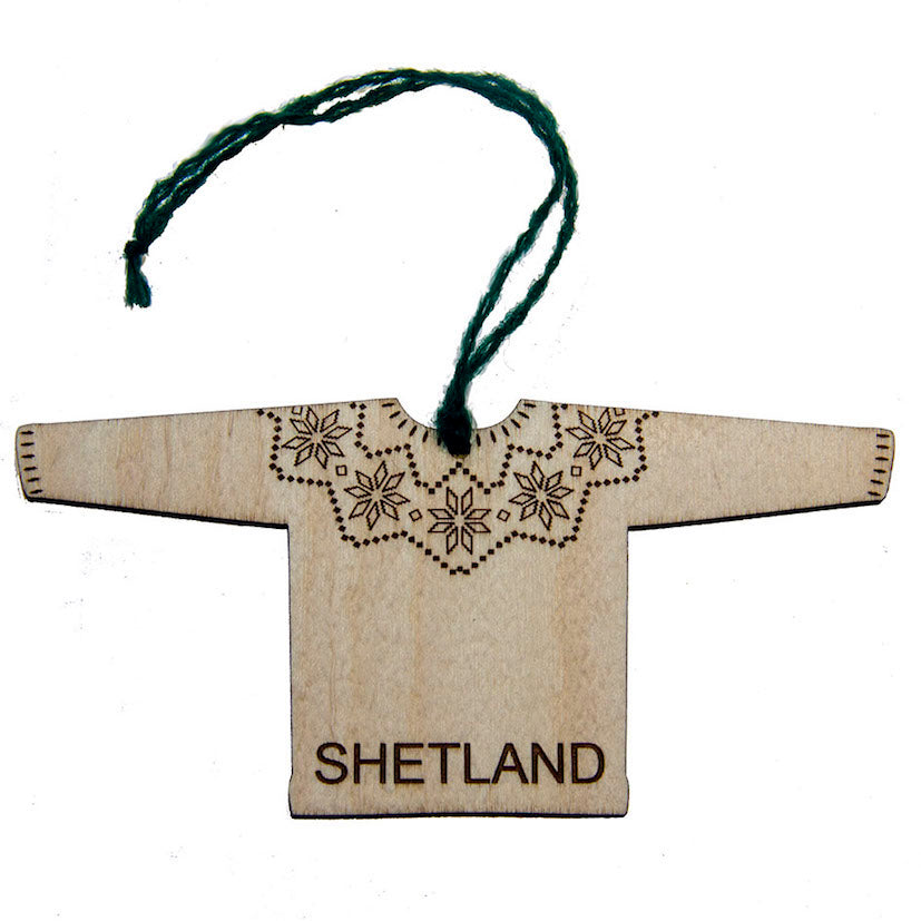 Shetland Fairisle yolk Jumper Decoration