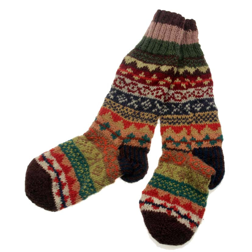 Fairtrade Hand-Knitted Chunky Socks