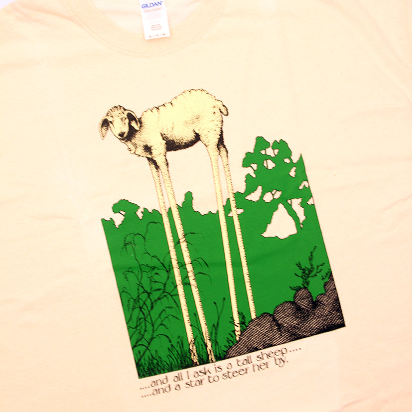 'Tall Sheep and a star' T-Shirt by Simon Drew