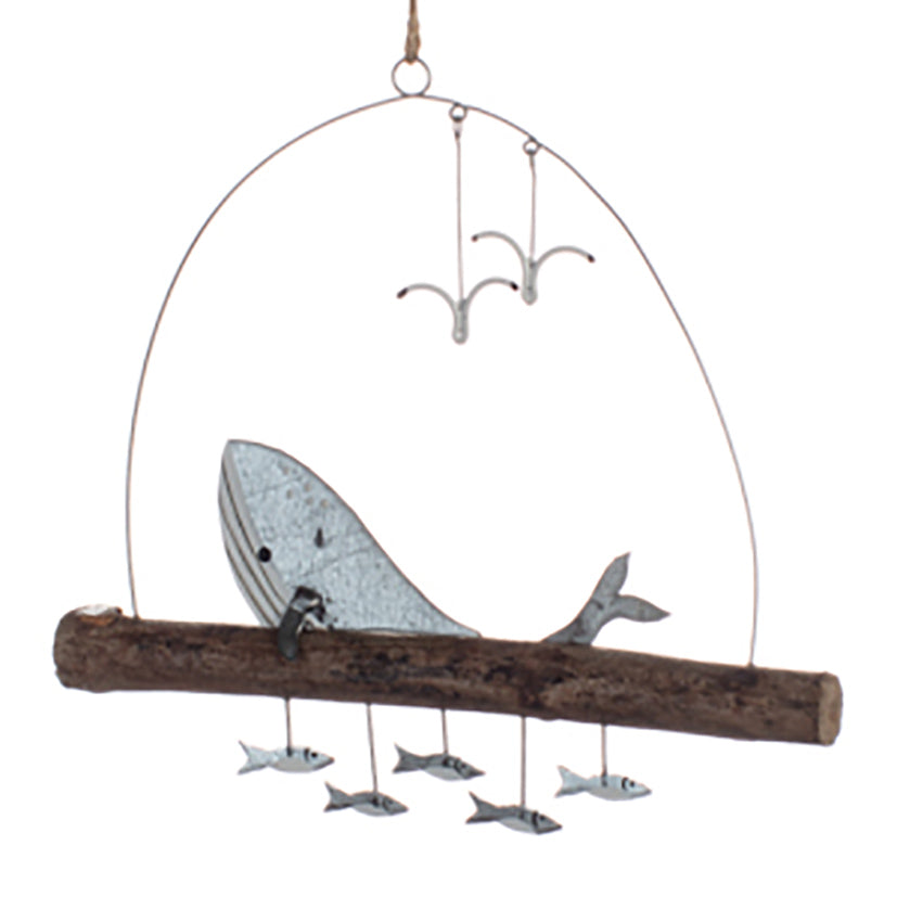 whale and fish decoration