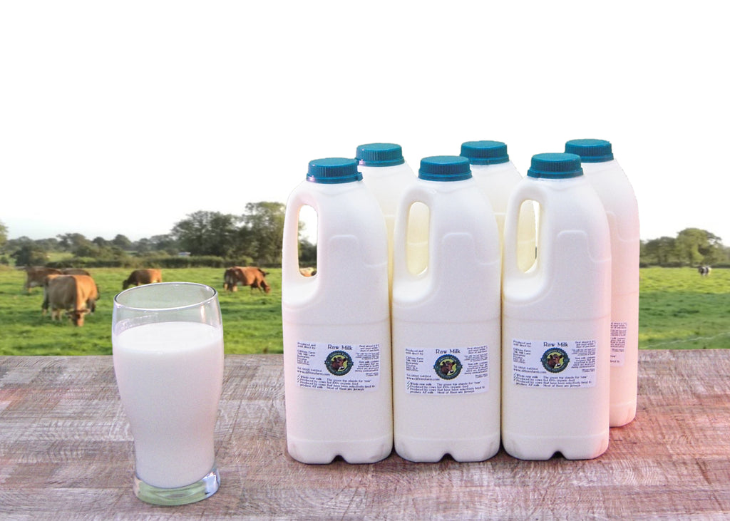 12 pints (6.82 litres) of raw milk