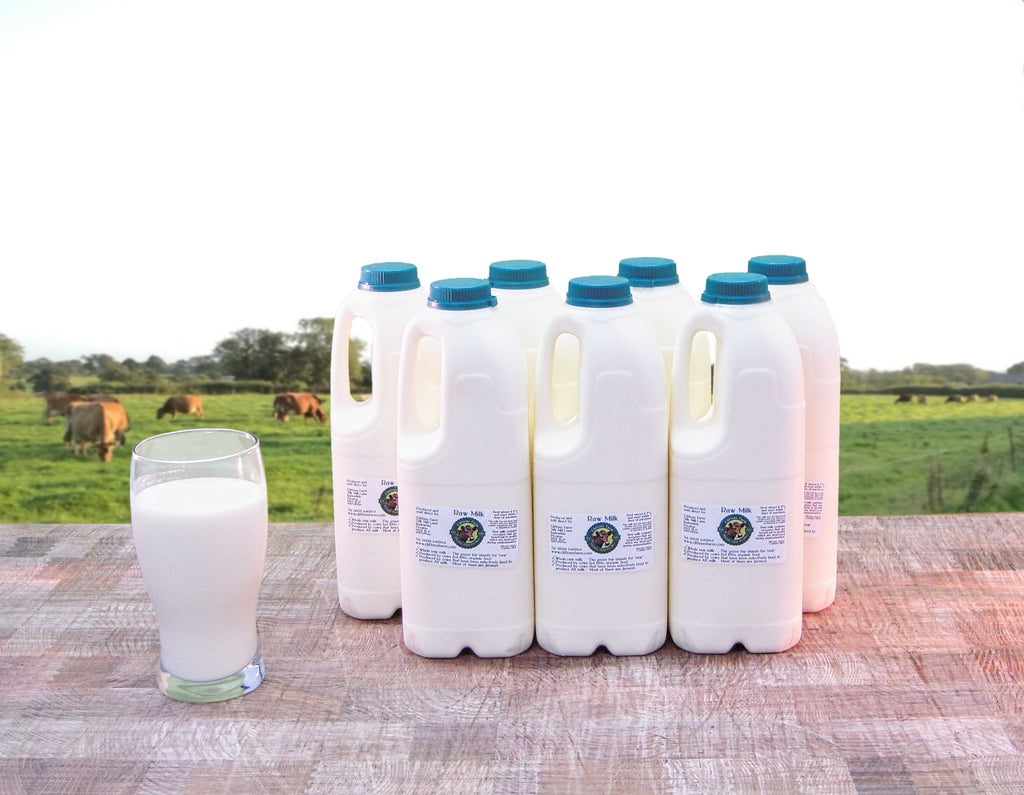 14 pints (7.96 litres) of raw milk