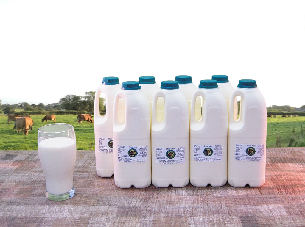16 pints (9.09 litres) of raw milk