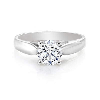 CR-R524-25W 14 K Gold Engagement Diamond Ring
