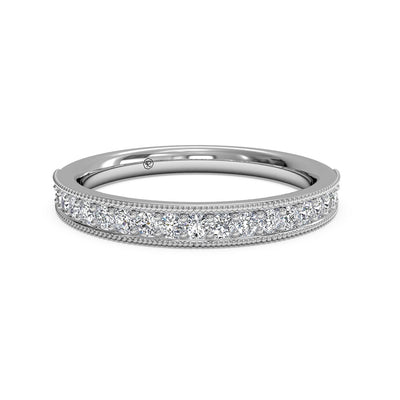 21697 - Ritani 14 K White Gold  0.24Ct Diamond Wedding Band
