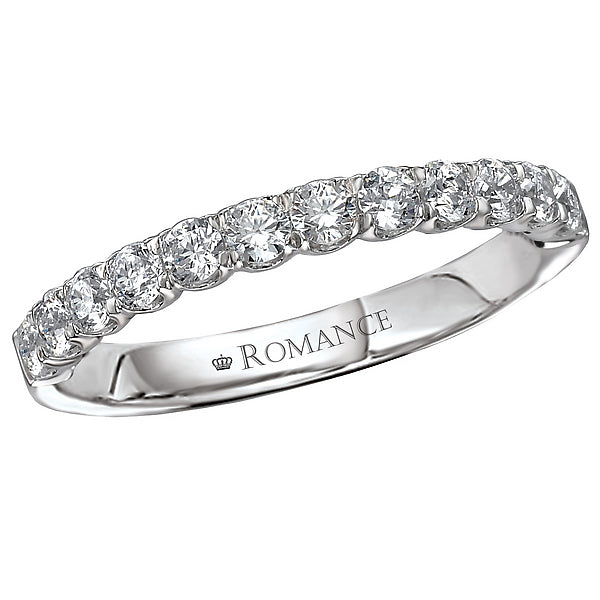 117053-W- ROM-  18 K WG 0.48 Ct Matching Wedding Band