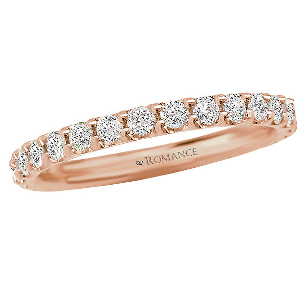 117075-W- ROM-  18 K WG 0.57 Ct Matching Wedding Band