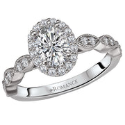 117908-100- ROM-  18 K WG 1/3 Ct Semi Mount Diamond Ring