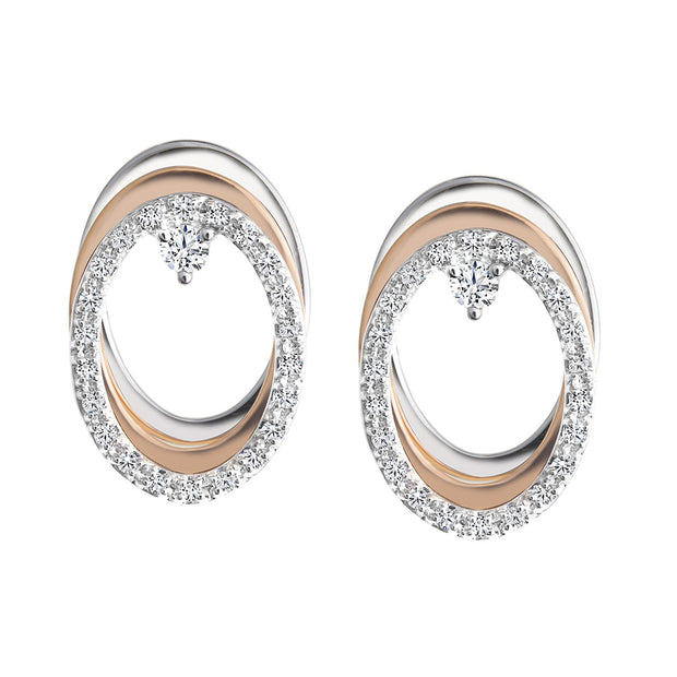 CR-E1373 - 10 K Gold and 0.25 Ctw  Diamond Earring