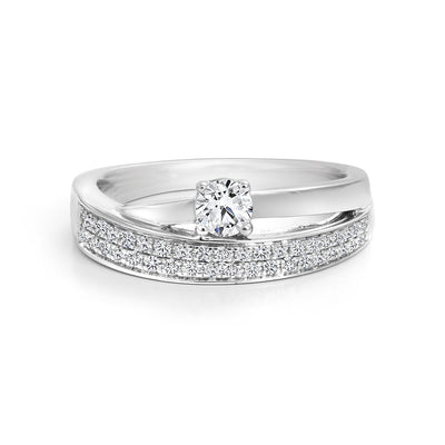 CR-R3248-20W- 14 K Gold and 0.4 Ctw Engagement Diamond Ring