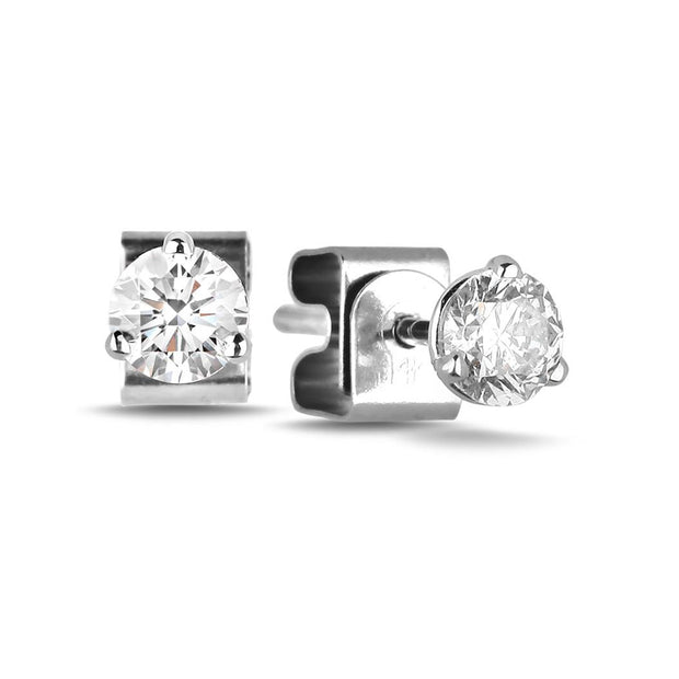 CR-E97 - 10 K Gold and 0.16 Ctw Diamond Earring