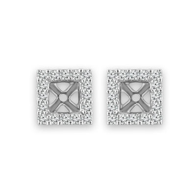 14K White Gold 1/6 Ctw Stud Earrings