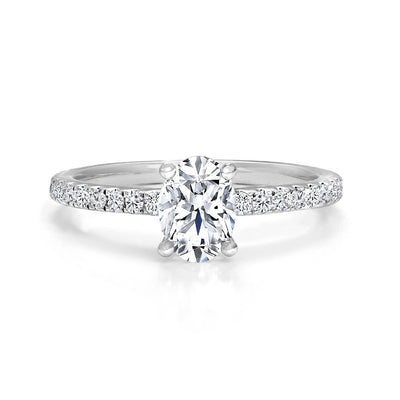 CR-R3118-70OV- 14 K Gold and 1Ctw Engagement Diamond Ring