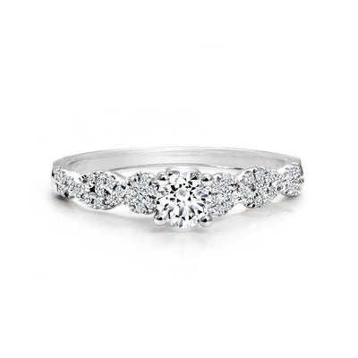 CR-R2823-30W - 14 K Gold and 0.48 Ctw Engagement Diamond Ring