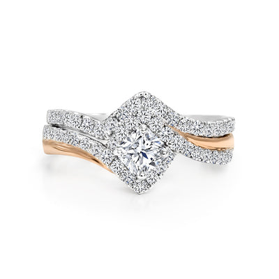 CR-R2779SET-40W- 14 K Gold and 1.03 Ctw Engagement Diamond Ring