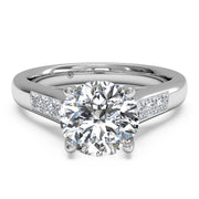 Ritani 1RZ1193 14K White Gold 0.18ctw Round Diamond Engagement Ring | Fame Diamonds