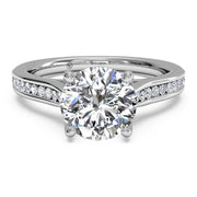Ritani 1RZ2487 14K White Gold 0.14ctw Solitare Diamond Engagement Ring | Fame Diamonds