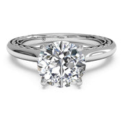 Ritani 1RZ2828 14K White Gold Solitaire Diamond Engagement Ring | Fame Diamonds