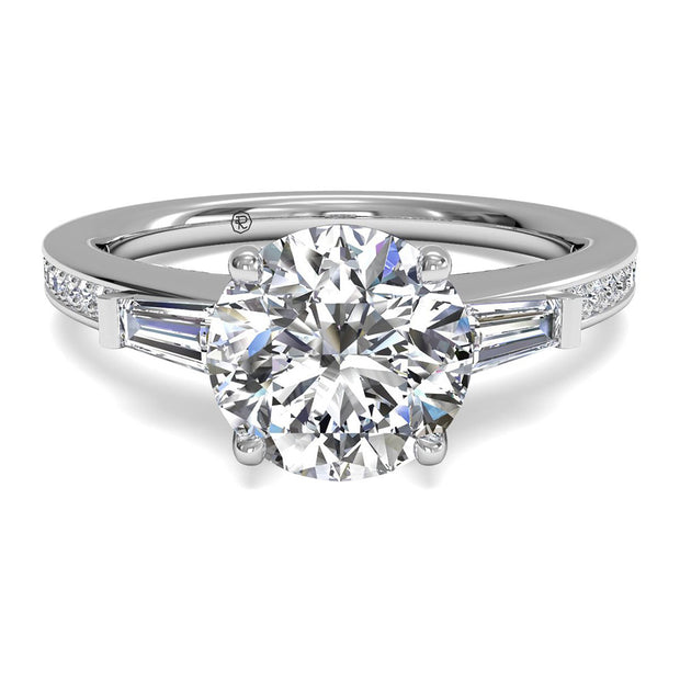 Ritani 1RZ3051 14K White Gold 0.39ctw Round Solitare Diamond Engagement Ring | Fame Diamonds