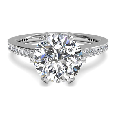 Ritani 1RZ3268 14K White Gold 0.54ctw Solitare Diamond Engagement Ring | Fame Diamonds
