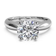 Ritani 1RZ7242 14K White Gold Classic Solitaire Diamond Engagement Ring | Fame Diamonds