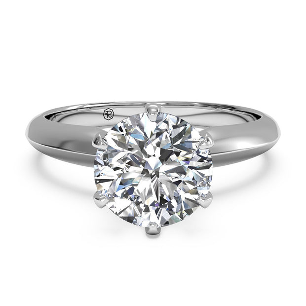 Ritani 1RZ7265 14K White Gold Solitaire Wedding Engagement Ring | Fame Diamonds