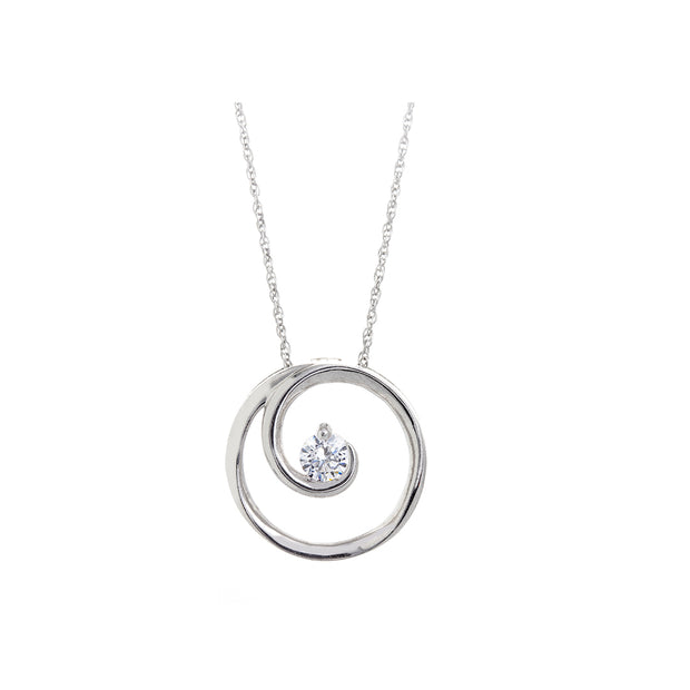 CR-P1955 - 10K White/ Yellow/ Rose Gold Canadian Diamond Pendant