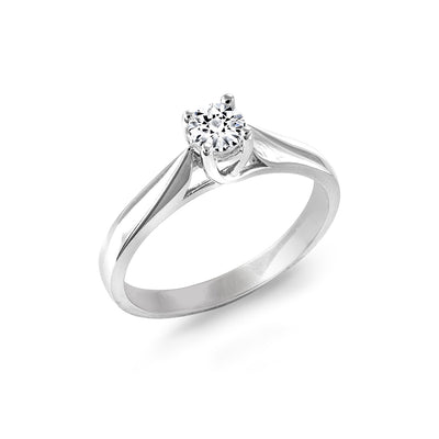 CR-R2681-23W- 14 K Gold and 0.23 Ctw Engagement Diamond Ring
