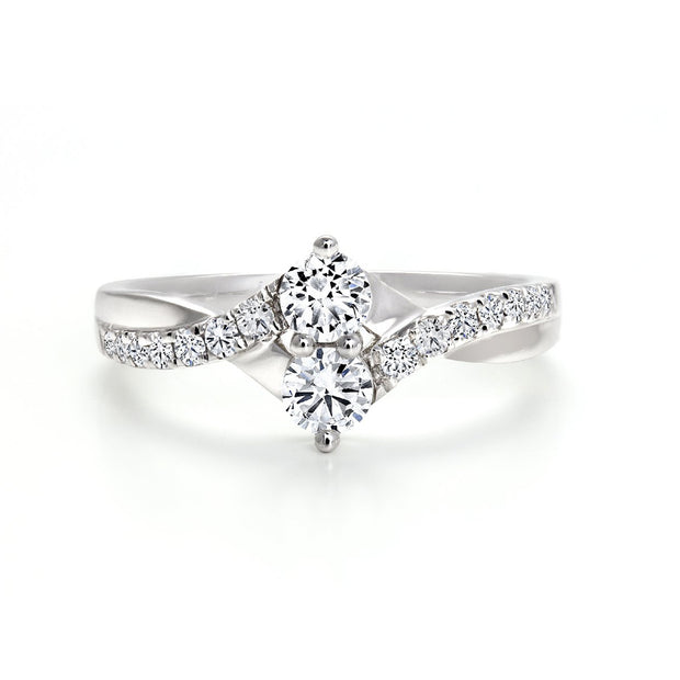 CR-R132486- 10 K Gold and 0.34Ctw Fancy Diamond Ring