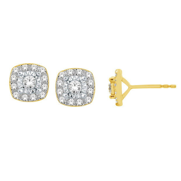 14K Gold 1.00 Ctw. Diamond Stud Earrings