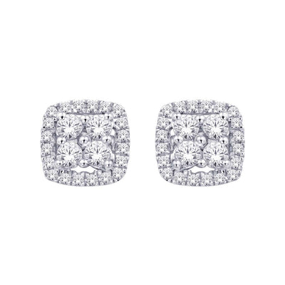 14K White Gold 0.21 Ctw. Diamond Stud Earrings