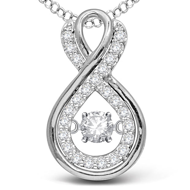 14K White Gold 0.20ctw diamonds pendant