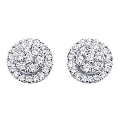 10K White Gold 0.25 Ctw. Diamond Stud Earrings