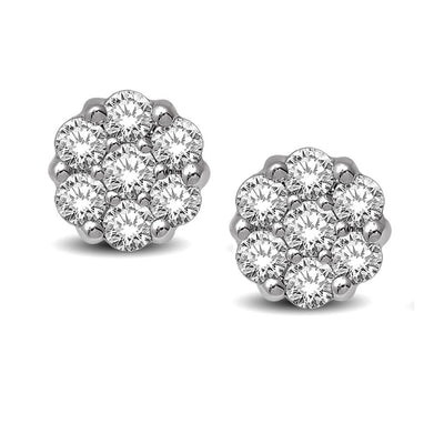 14k-white-gold-flower-cluster-diamond-stud-earrings-fame-diamonds