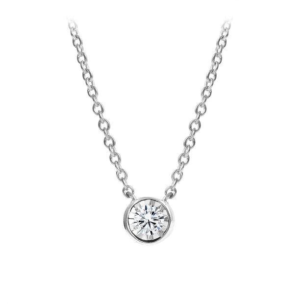 CR-P6829 - Sterling Silver Canadian Diamond Pendant