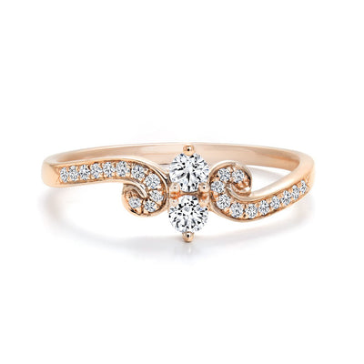 CR-R133651-16RG- 10 K Gold and 0.25 Ctw Fancy Diamond Ring