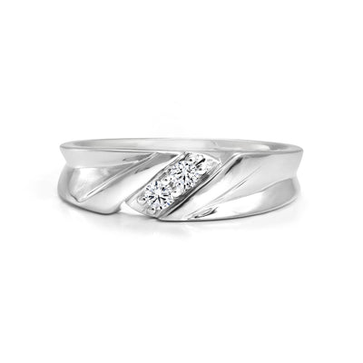 CR-R202541-14W - Verragio - 10k 0.14ctw Mens Wedding Band